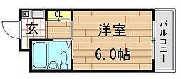BFレジデンス小阪[705号室]の間取り