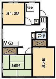高橋マンション[406号室]の間取り