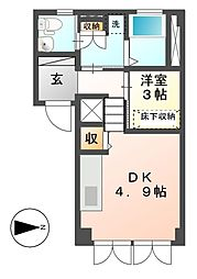 Plumeria鶴舞[1階]の間取り