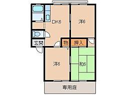 グリーンフル福田[1階]の間取り