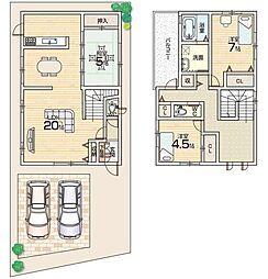 枚方市東香里南町 積水ハイム 高性能2×6工法の邸 3LDKの間取り
