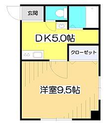 レジデンス富士見[1階]の間取り