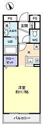 タイムズアヴェニュー[2階]の間取り