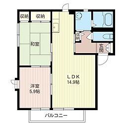 リバーサイド U ハウス[1階]の間取り