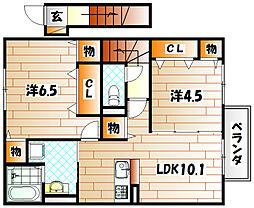 D-room馬場[2階]の間取り