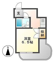 ユース白壁[2階]の間取り