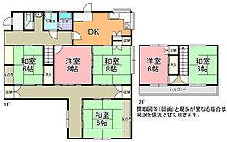 [一戸建] 茨城県ひたちなか市中根 の賃貸【茨城県 / ひたちなか市】の間取り