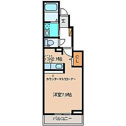シャルマン櫻街 弐番館[1階]の間取り