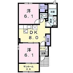 ブローテM II[1階]の間取り