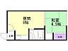 間取り,1DK,面積25.92m2,賃料3.3万円,バス くしろバス浄水場下車 徒歩7分,,北海道釧路市愛国西4丁目24-3