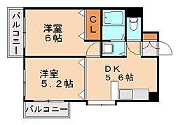 マーキスみなみ[3階]の間取り