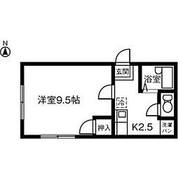 愛知県稲沢市駅前3丁目の賃貸アパートの間取り
