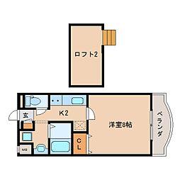 JR関西本線 王寺駅 徒歩8分の賃貸マンション 4階1Kの間取り