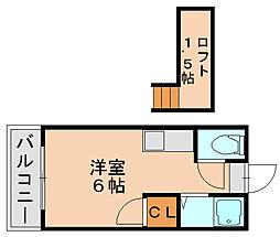 福岡県福岡市博多区西月隈3丁目の賃貸アパートの間取り