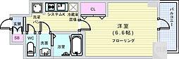 Osaka Metro谷町線 四天王寺前夕陽ヶ丘駅 徒歩7分の賃貸マンション 2階1Kの間取り