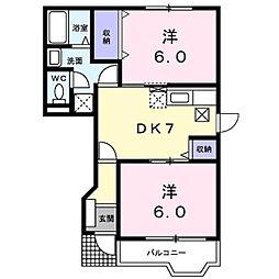 リーヴァ・カーサ ONE[2階]の間取り