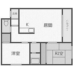 北海道札幌市手稲区前田八条10丁目の賃貸アパートの間取り