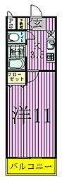 YUKON南柏[203号室]の間取り