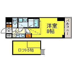 エステムコート名古屋栄デュアルレジェンド[5階]の間取り