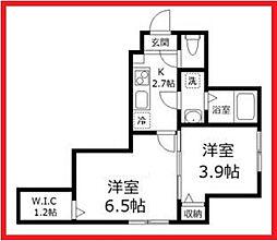 東京都墨田区東向島1丁目の賃貸アパートの間取り