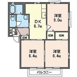 ジュネス 弐番館[2階]の間取り
