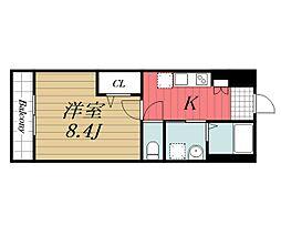 JR内房線 長浦駅 バス13分 笠上橋下車 徒歩4分の賃貸アパート 1階1Kの間取り