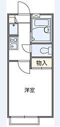 東京都足立区伊興本町1丁目の賃貸アパートの間取り