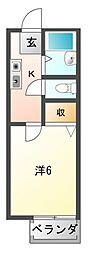 サンハイツUNO[1階]の間取り