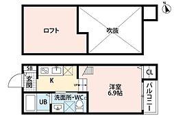 モモ・メゾン[1階]の間取り