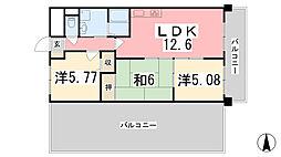 ファーレ姫路[608号室]の間取り