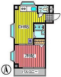 埼玉県さいたま市浦和区駒場1丁目の賃貸マンションの間取り