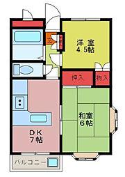 パルティーレ鶴ヶ島[2階]の間取り