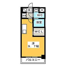 S-RESIDENCE東日暮里 8階ワンルームの間取り