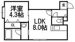 カルム2・7[2階]の間取り