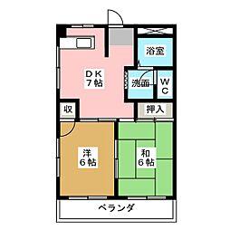 ピュアハイツ6[1階]の間取り