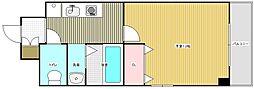 名古屋市営名城線 名古屋大学駅 徒歩5分の賃貸マンション 5階1Kの間取り
