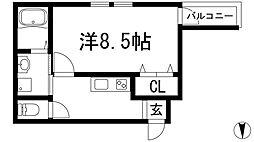 フジパレス天神1番館[2階]の間取り