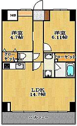 トロワボヌール本町[9階]の間取り