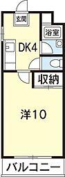 あべハイツII[36号室]の間取り