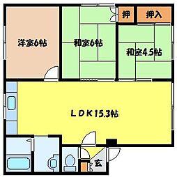 北海道札幌市北区北六条西8丁目の賃貸アパートの間取り