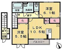 ラ・カンパーニュ A[2階]の間取り