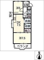 ハイネス石田[3階]の間取り
