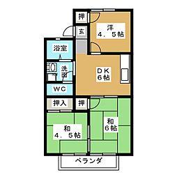 エルボナール B棟[2階]の間取り