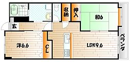 レリディアンスビューマ[7階]の間取り