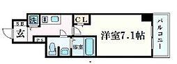 プレサンス梅田東ベータ[1402号室]の間取り