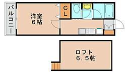AIOガーデン宮前[2階]の間取り
