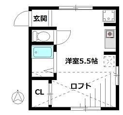 サンク王子神谷[1階]の間取り