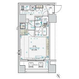 JR東北本線 尾久駅 徒歩2分の賃貸マンション 6階1Kの間取り