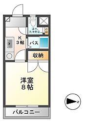 ラフォーレ本郷館[2階]の間取り