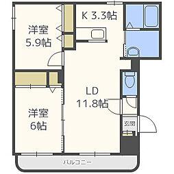 大光22番館[2階]の間取り
